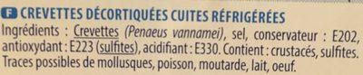 Crevettes cocktail - Ingrediënten
