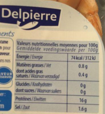 Crevettes cocktail - Voedingswaarden