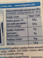 Crevettes déjà décortiquées - Voedingswaarden - fr