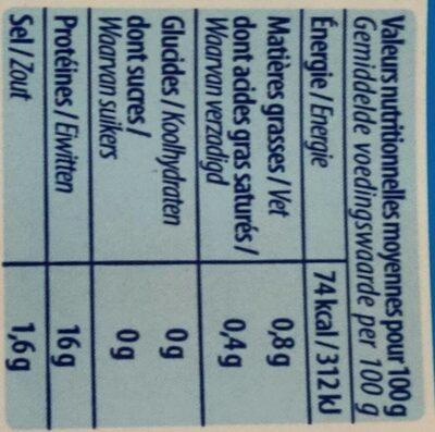 Crevettes decortiquées - Voedingswaarden - fr