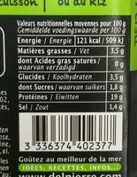 Queues de crevettes marinées ail & persil - Voedingswaarden - fr