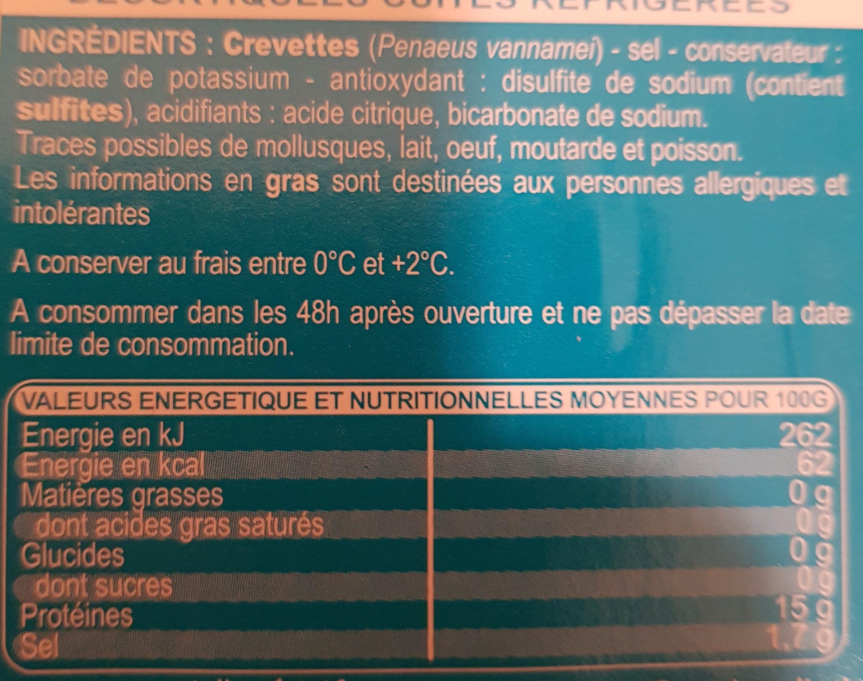 Crevette - Ingrediënten - fr