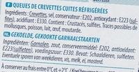 Queues de Crevettes Sauvages - Ingrediënten