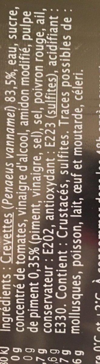 Queues de Crevettes Sauce Asiatique - Ingrediënten - fr