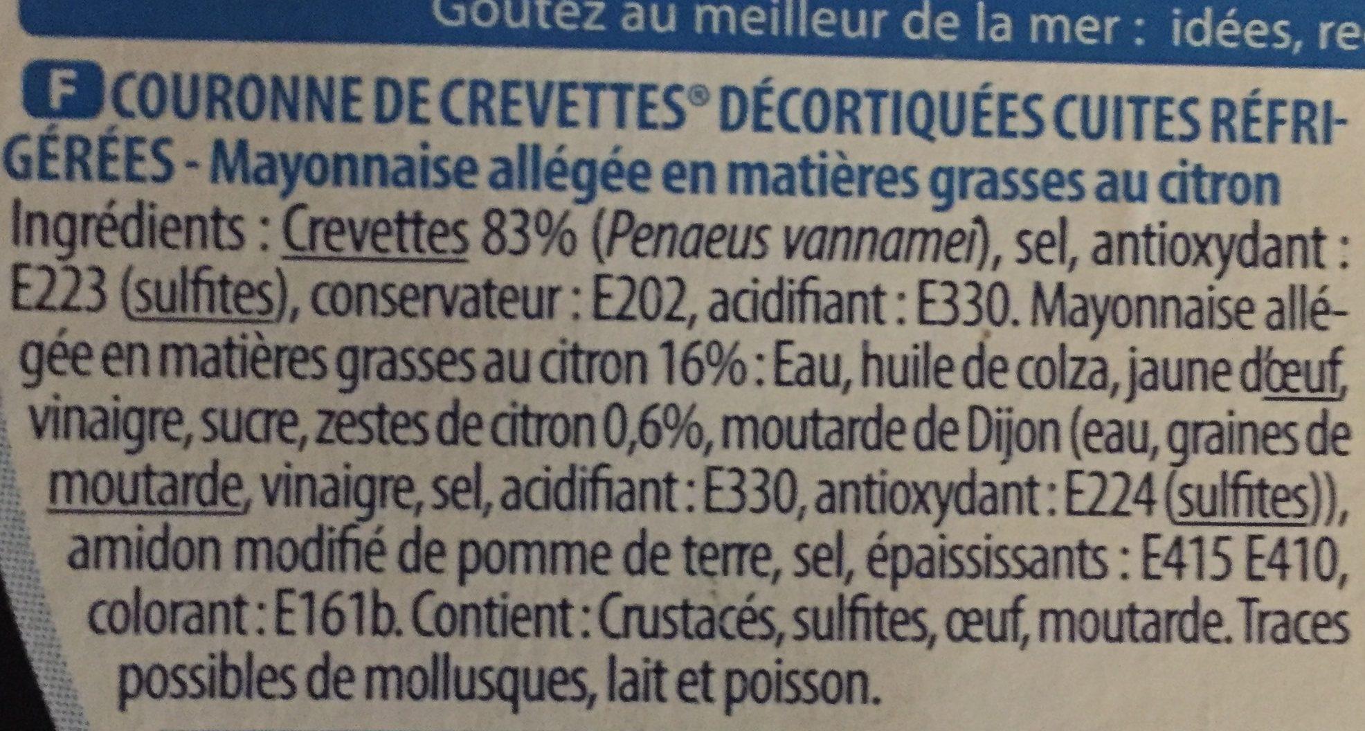 Couronne de Crevettes - Ingrediënten - fr