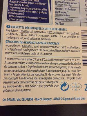 Crevettes décortiquées - Ingrediënten - fr
