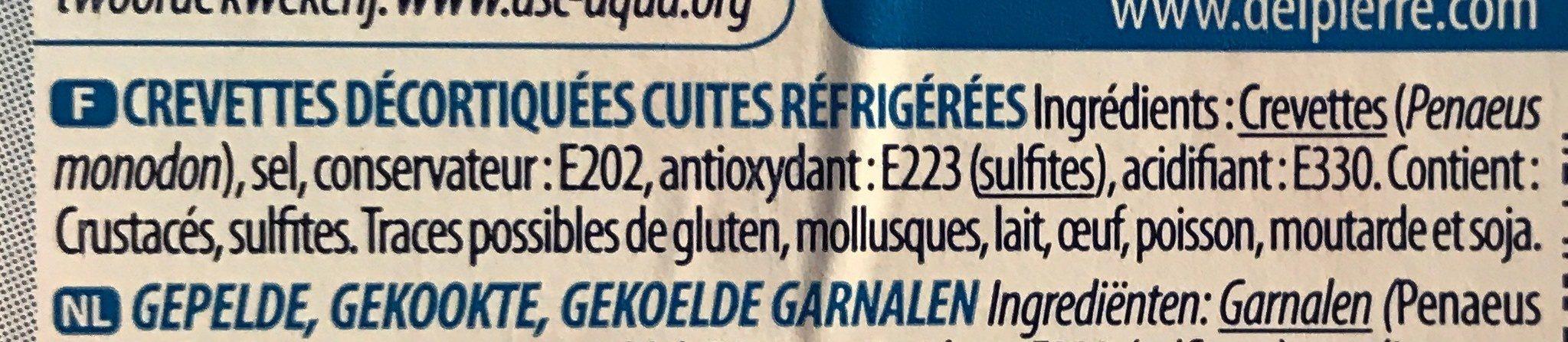 Crevettes décortiquées Madagascar - Ingrediënten - fr