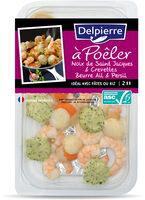 À Poêler Noix de Saint Jacques & Crevettes Beurre Ail et Persil - Produit