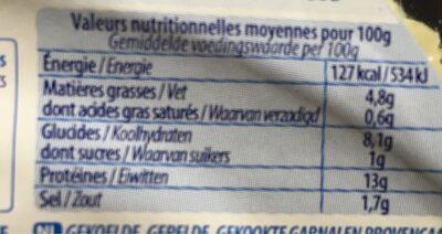 Crevettes sauce et croustillant été - Voedingswaarden - fr