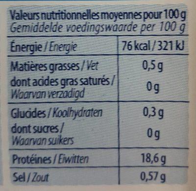 Langoustines 200 g - Voedingswaarden - fr