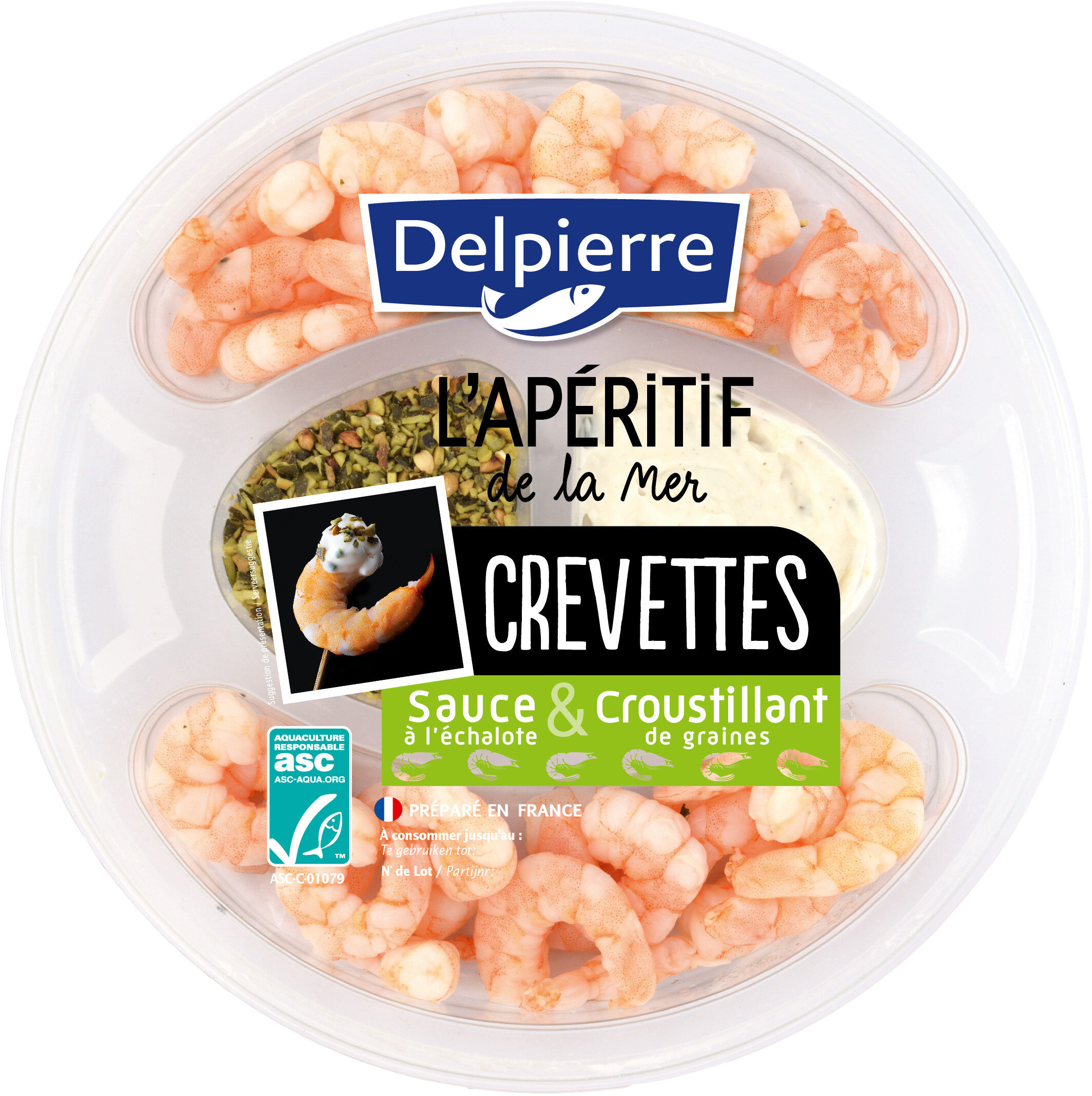 Crevettes Sauce & Graines - Apéritif de la mer - Produit - fr
