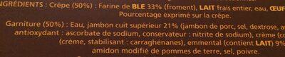 4 crêpes jambon fromage - Ingrédients - fr