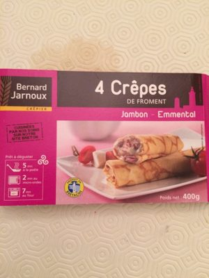4 crêpes jambon fromage - Informations nutritionnelles - fr