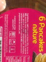 6 Pancakes, La Barquette De 132 gr - Ingredients