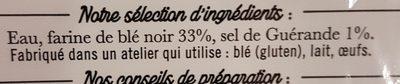 Galettes de blé noir Jarnoux x4 soit - Ingredients - fr
