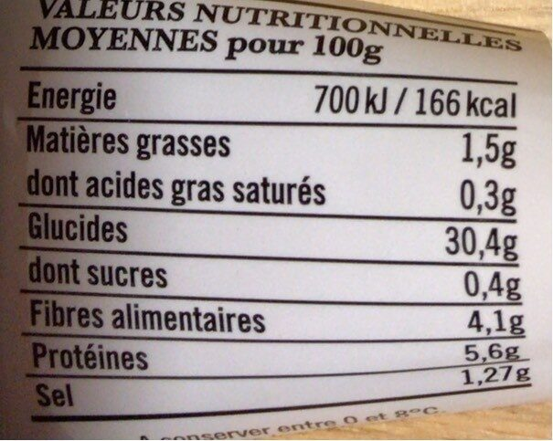 Galettes de blé noir Jarnoux x4 soit - Nutrition facts - fr