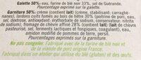 Galette de ble noir lardons chevre affine - Ingredients - fr