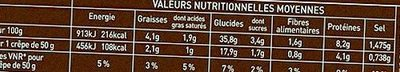 6 Crêpes en Cuisine - Nutrition facts