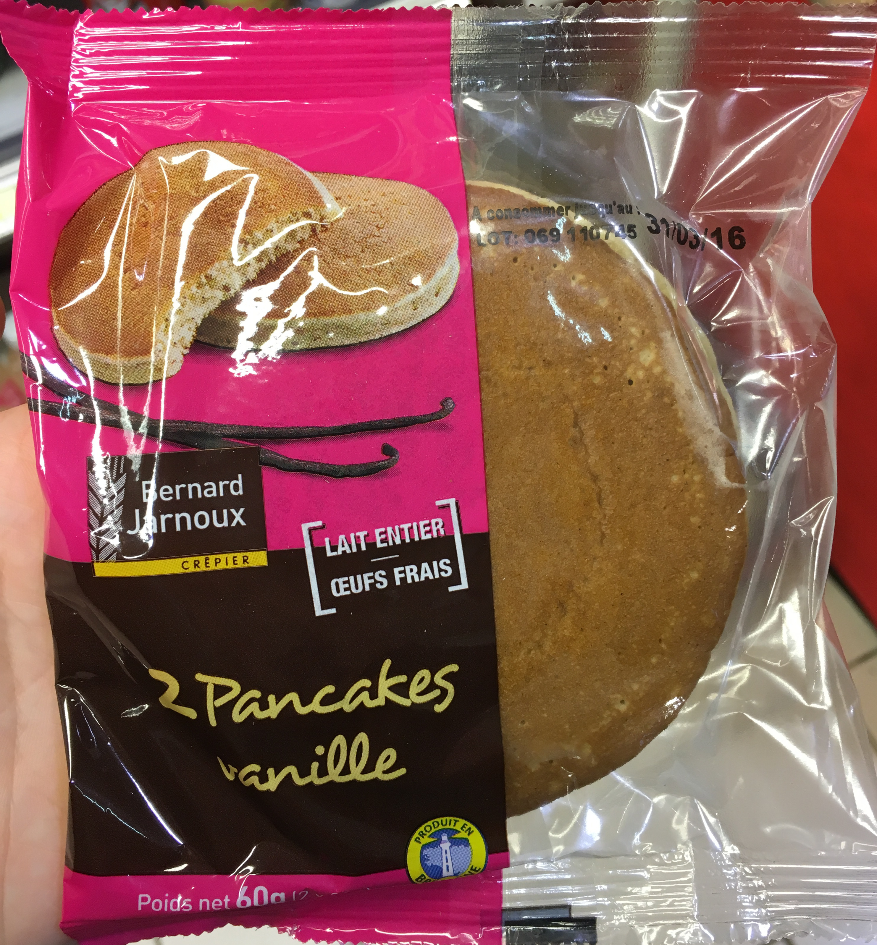 2 Pancakes vanille - Product - fr