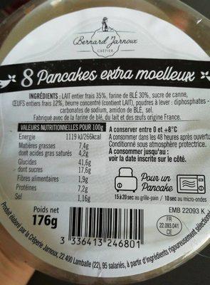 8 pancakes au beurre - Informations nutritionnelles