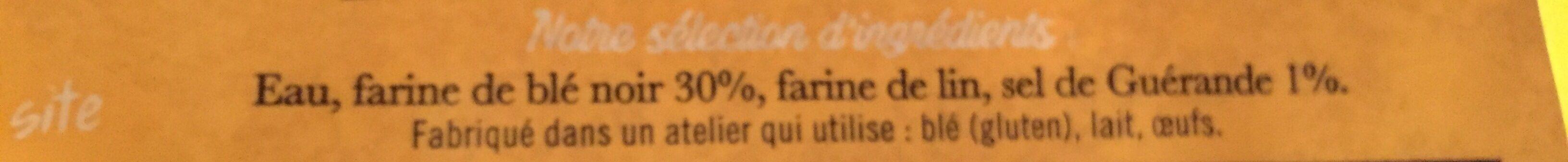 Galette de blé noir au sel de guérande - Ingredients - fr