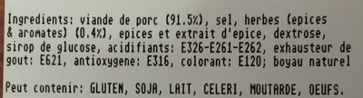 Saucisses aux herbes - Ingrediënten
