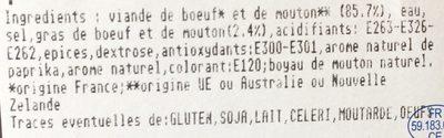 Merguez - Ingrediënten - fr