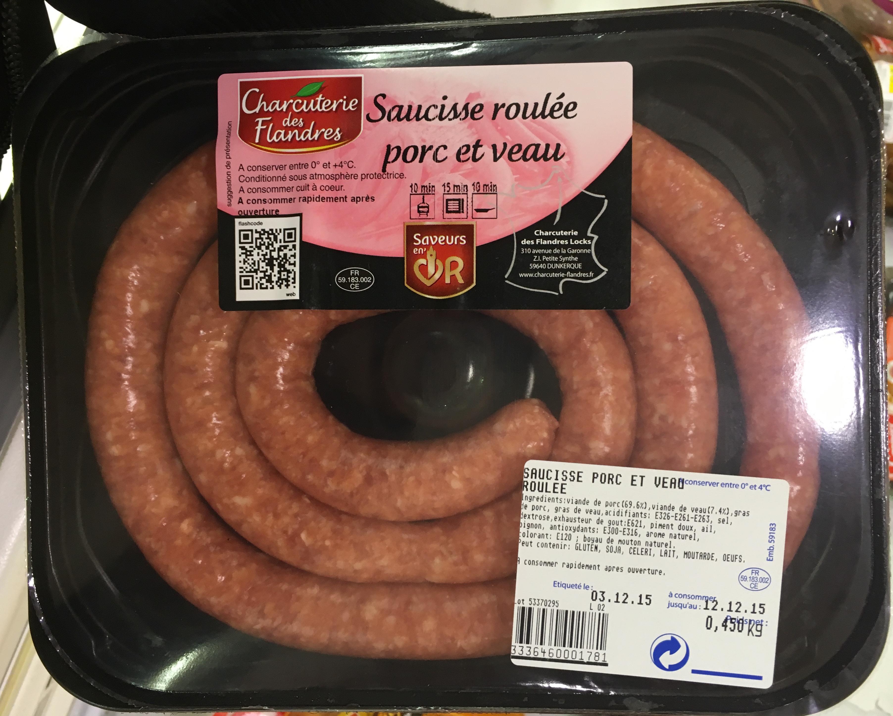 Saucisse roulée porc et veau - Product - fr