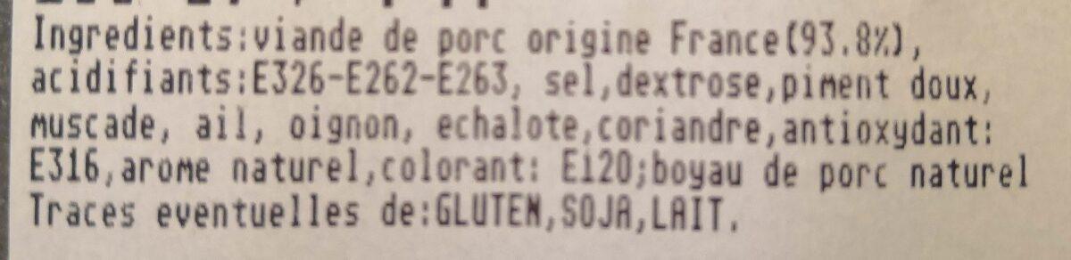 Saucisses de Toulousse - Ingrediënten - fr