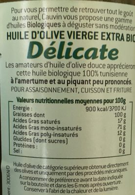 Huile d'olive vierge extra bio - Ingredients - fr