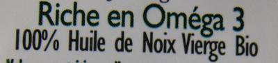CAUVIN - HUILE VIERGE DE NOIX BIO - Ingredients - fr