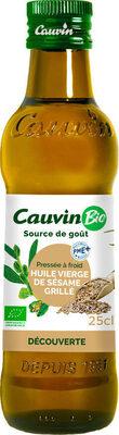 CAUVIN - Huile vierge de sésame grillé BIO - Prodotto - fr