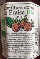 Confiture extra de fraise bio - Produit - fr
