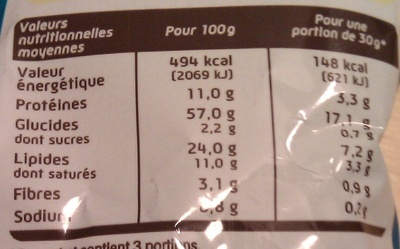 Croutons Fromage - Informations nutritionnelles