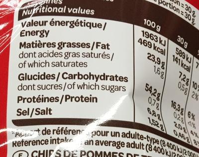 La Légère -30% de M.G. - Nutrition facts