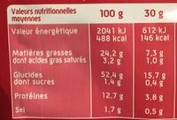 Curly Cacahuète l'Original - Nutrition facts - fr