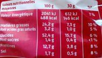 Curly l'Original 160 g - Format familial - Informations nutritionnelles - fr