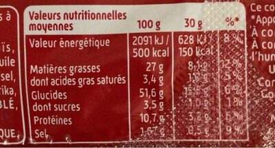 Curly Club - 90 g - Informations nutritionnelles - fr