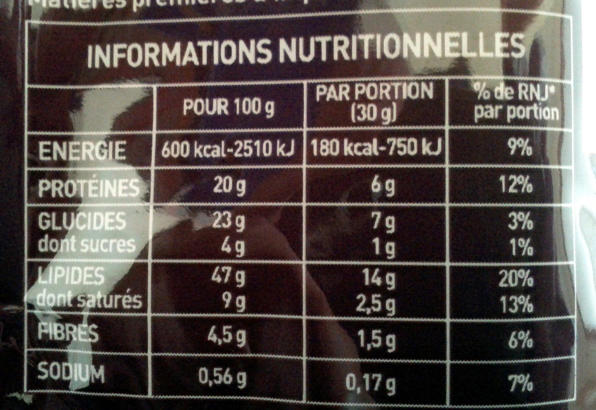 Apérifruits hot mix - Informations nutritionnelles