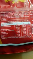Curly Cacahuète Maxi 200 g - Informations nutritionnelles