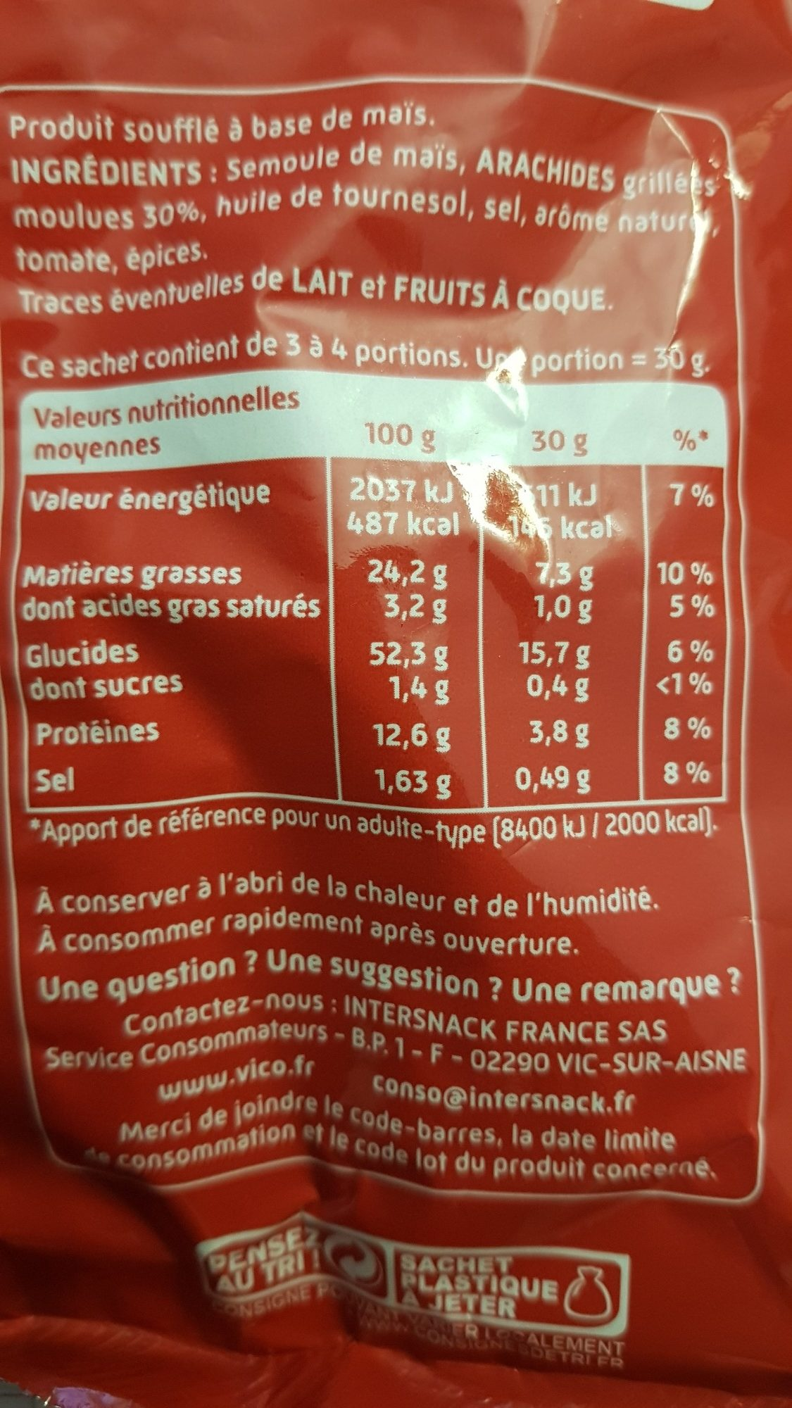 curly - Nutrition facts - fr