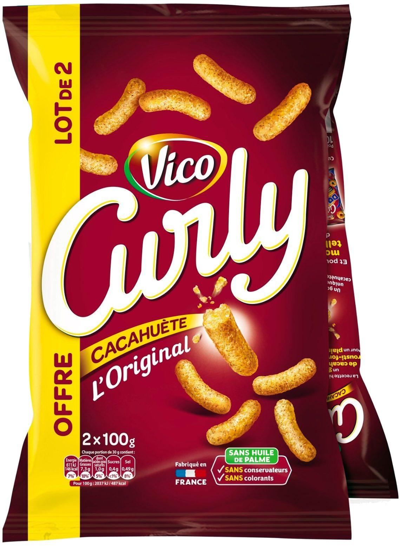 Curly Cacahuète L'Original- Lot 2x100 g - Produit - fr