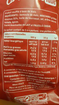 Curly Cacahuète L'Original- Lot 2x100 g - Ingrédients - fr