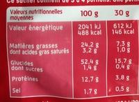 Curly Cacahuète L'Original- Lot 2x100 g - Informations nutritionnelles - fr