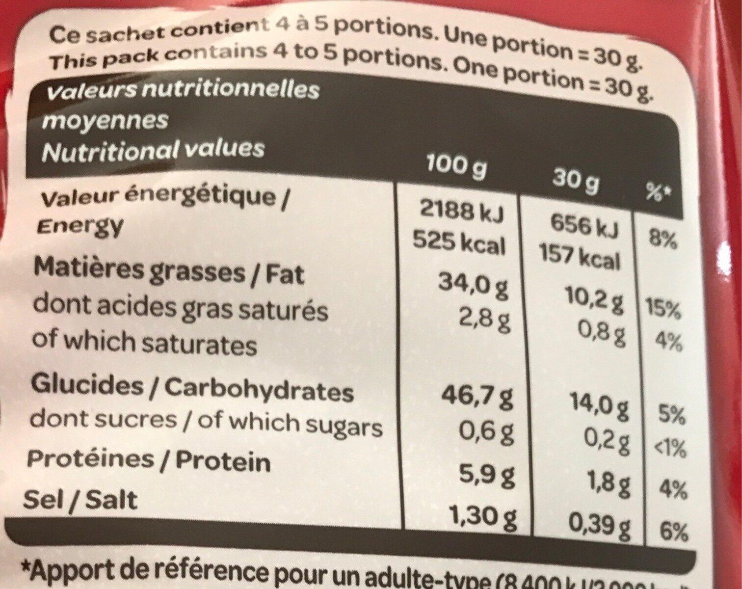 La classique nature 135 g - Valori nutrizionali - fr