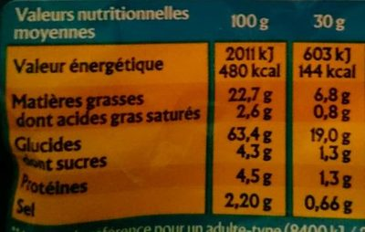Monster Munch Jambon/Fromage 2x85G - Informations nutritionnelles