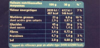 Monster Munch goût Jambon Fromage - Informations nutritionnelles - fr
