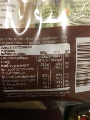 Chips La Gourmande - Nutrition facts