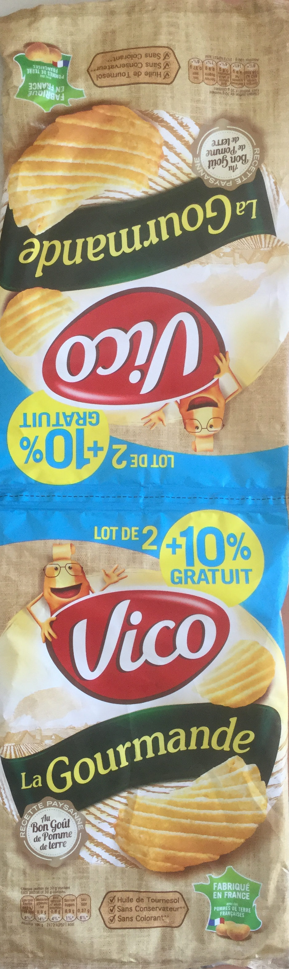 Chips La Gourmande (lot de 2, +10% gratuit) - Product - fr
