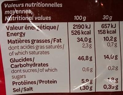 Vico La Classique - Informations nutritionnelles